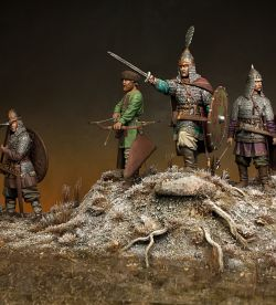 Russian warriors. 10th century.