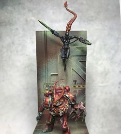Diorama of Word Bearers Legion Gal Vorbak and Callidus Assassin