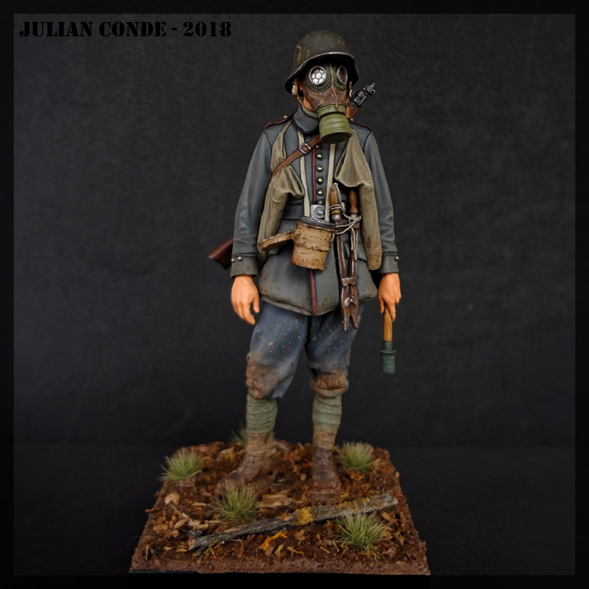 German Stormtrooper - W W I - 1917 - Andrea Miniatures by