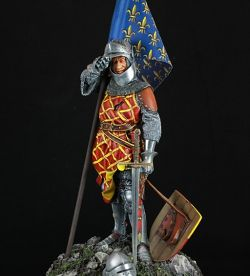 Eustache de Ribemont - french flag bearer Crecy 1346