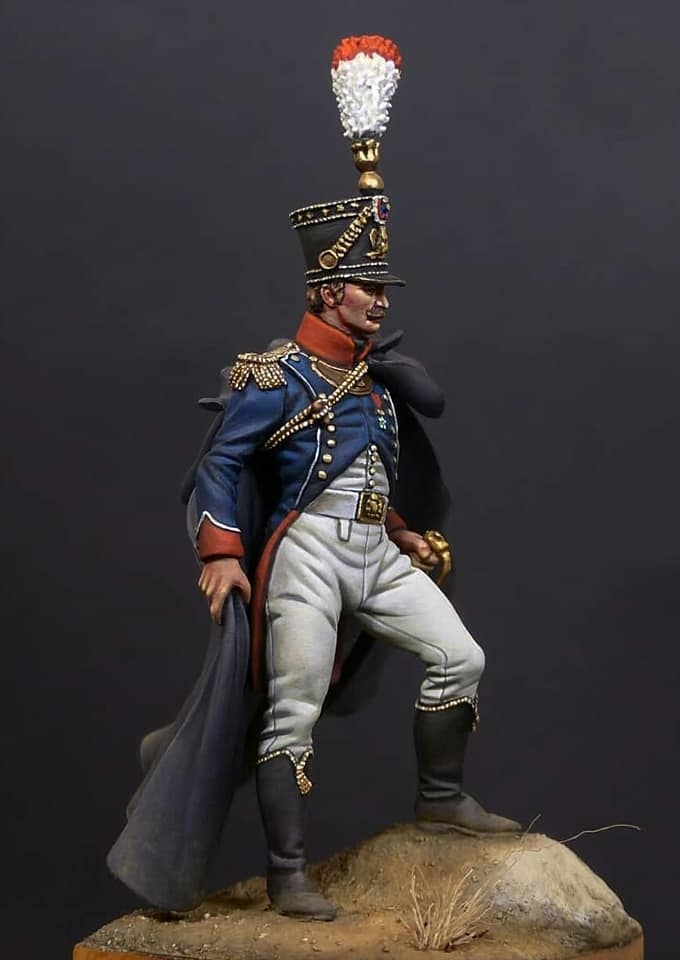 Officer of the Grenadiers of the Young Guard, France 1815