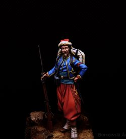 Zouave of the Imperial Guard, Crimea, 1855 - Fer miniatures 54mm