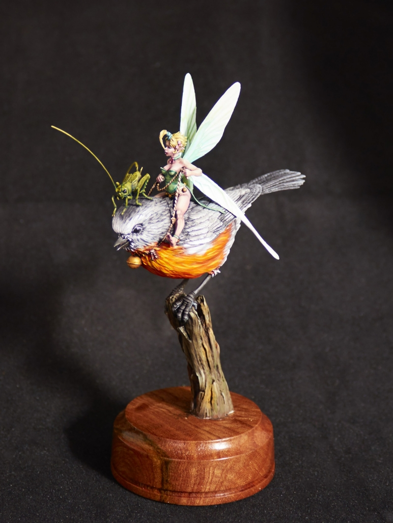 Tinkerbell & Jiminy Cricket on their trusty steed (Blacksmith Miniatures)