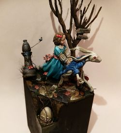 Alice in Wonderland (diorama  54mm)