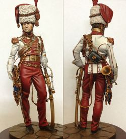 Trumpeteer Major of 2nd Lanciers Guard, France, 1811-13
