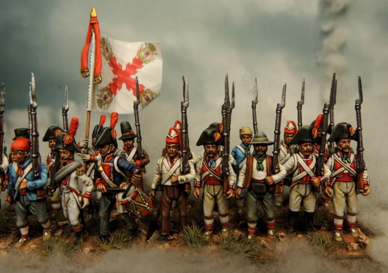 28mm Spanish militia