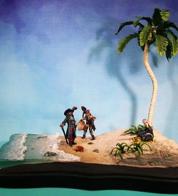 Pirate Beach Diorama