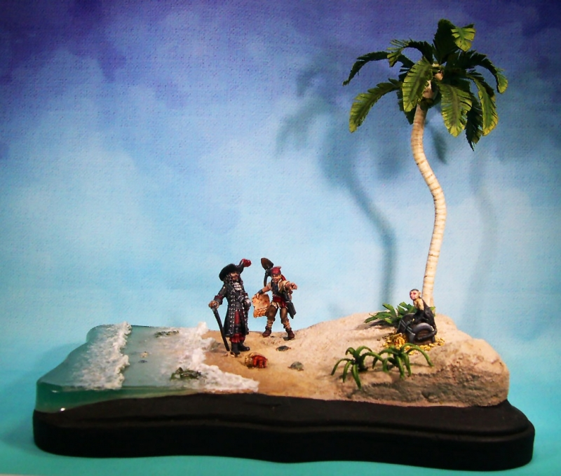 How Much Is A Paint Job >> Pirate Beach Diorama by CosmicJoke · Putty&Paint