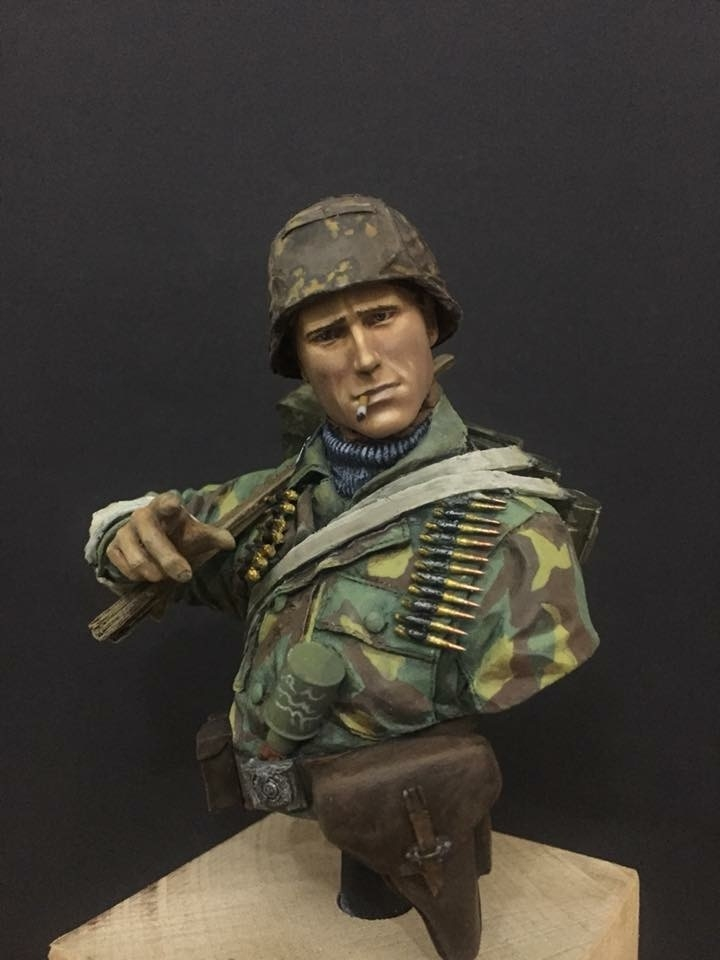 "1/10 Man of Waffen SS, 1st Div. ""LAH"", ammo carrier"
