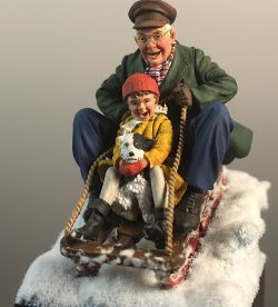 Grandpa´s sledge ride