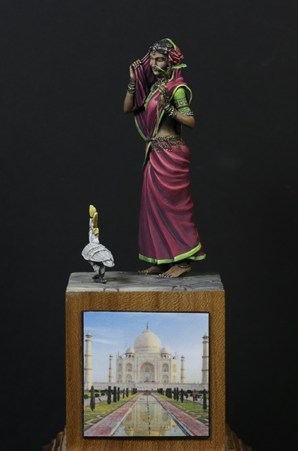 Indian woman with sidekick