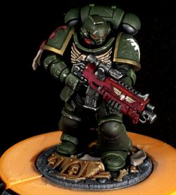 Battle Damaged Dark Angels Space Marine - New Colour Scheme