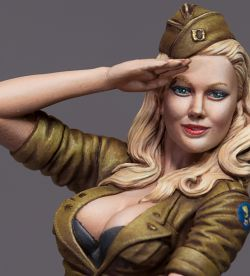 Rocket Girl / Bomb Girl from Dolman Miniatures