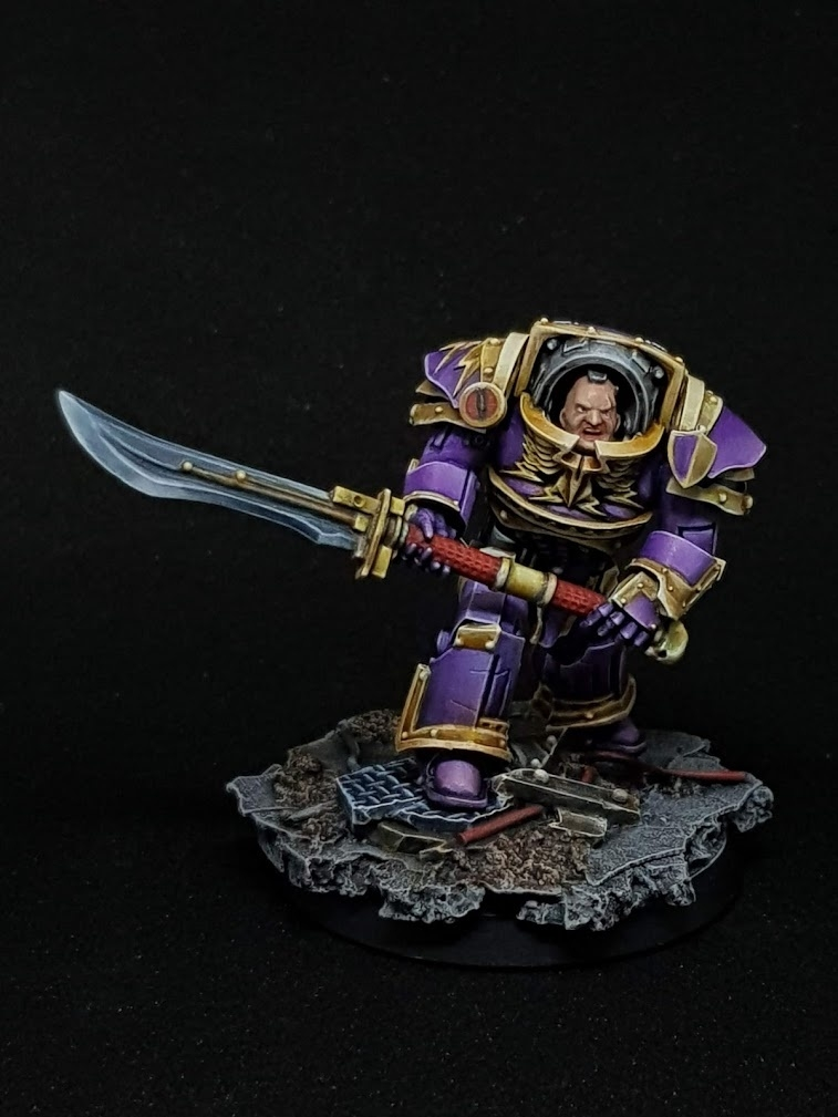 Legion Preator Tribune in Tartaros Terminator Armour