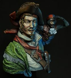 Young miniatures- The pirate before sunset
