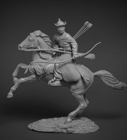 Yabusame mounted archer 75 mm (Altores Studio)
