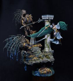 Angel vs Demons Diorama - Limbo Miniatures and Games Workshop