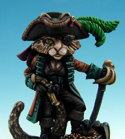 Dark Sword Miniatures Cat Pirate - Sparrow v2