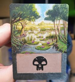 Magic the Gathering - Swamp alter