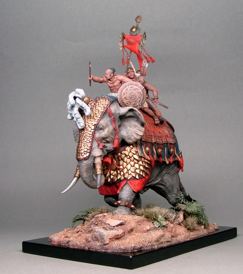 Battle elephant of the Indian army of King Por