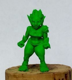 Female Goblin Fantasy Football Player
