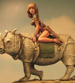 Mina the Rhino Rider