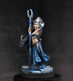 28mm Dark Elf Supreme Sorceress
