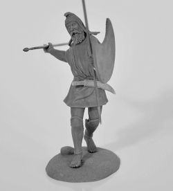 Thracian peltast in 75mm