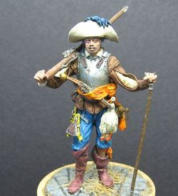54mm Musketeer , Europe, 17th Century