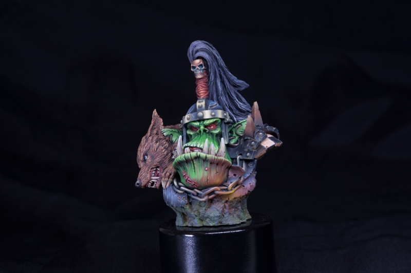 forgeworld orc warlord bust