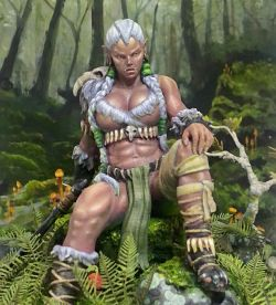 Orc Woman - Chronos Miniatures, Worlds of Fantasy