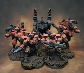 Red Terror Tau combat drop.