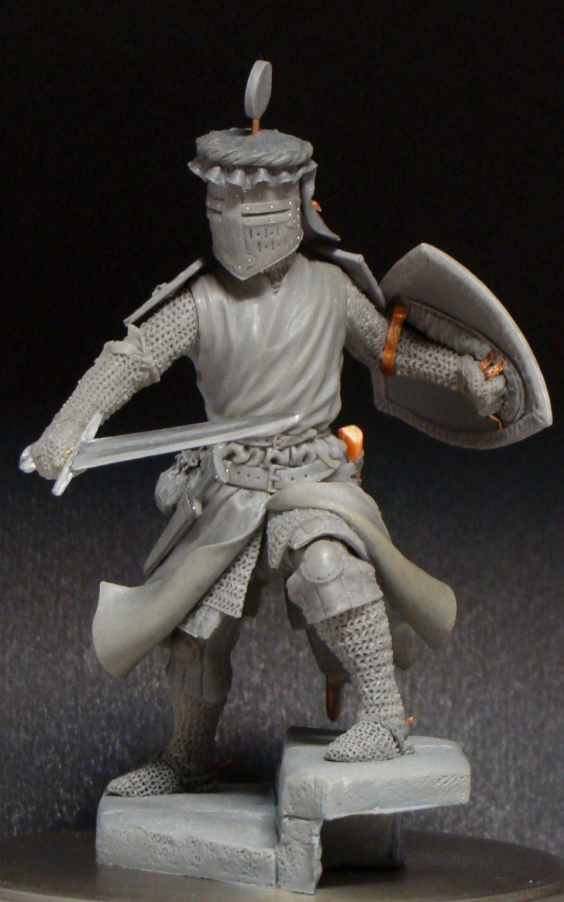 Medieval knight XIII century; 75 mm.