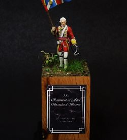 Standard Bearer, 15th Regiment of Foot, FIW 1753-1764