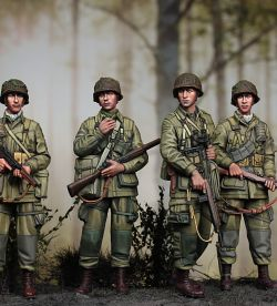 Airbornes in the Woods, Normandy,June, 1944 (1/35, Alpine Miniatures)