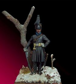 Deaths' Hussars Officer, Duke of Brunswick, 1815 - 54mm