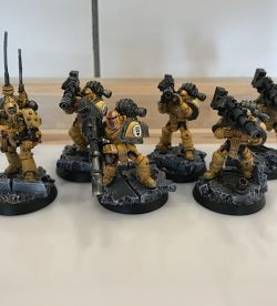 Imperial Fists Heavy Support Squad with Master of Signal