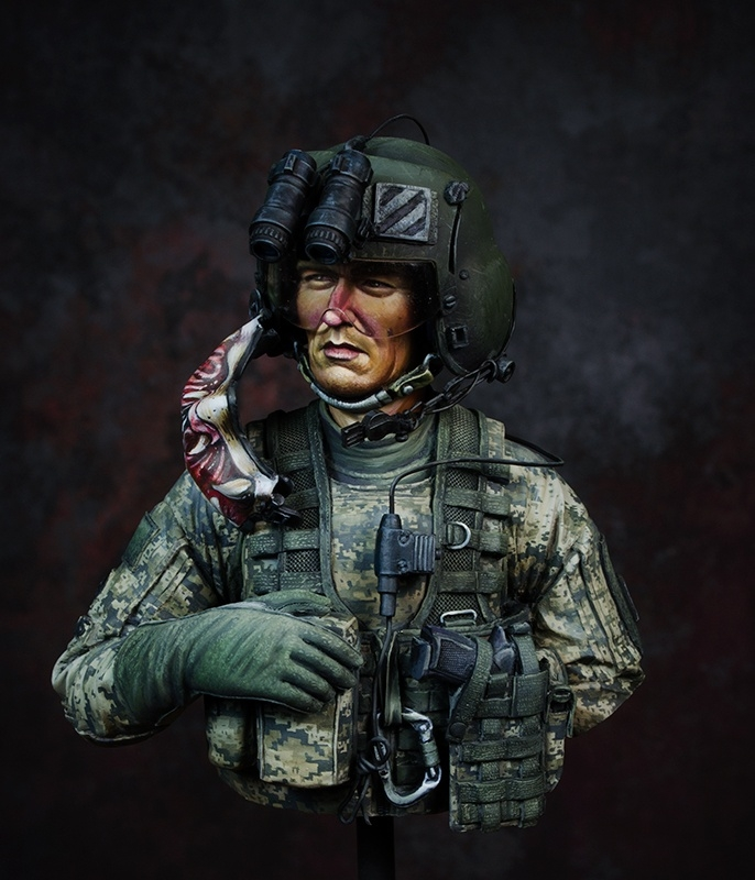 US Army helicopter gunner