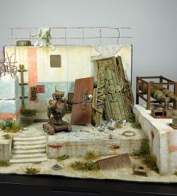 """I miss my masters"" 54mm scale diorama"