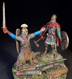 Saxon Noble challenging a Viking Earl 10th C