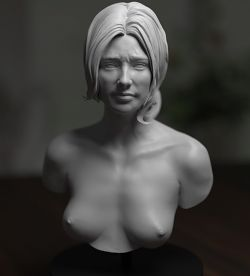Academic Bust - Worried Woman