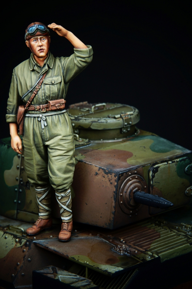 ww2 IJA Tank Commander.(Alpine Miniatures 1/35)