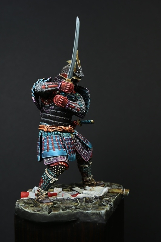 Samurai  with facemask Menpo