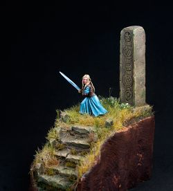 Eowyn, maiden of Rohan.