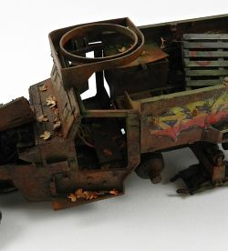 WRECK OF  M2A1 HALF TRACK