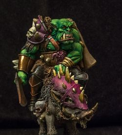Orc on Boar, 75mm, Black Sun Miniatures