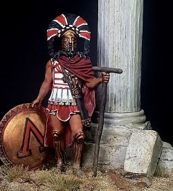 60mm Spartan Warlord 5th C BC Vignette