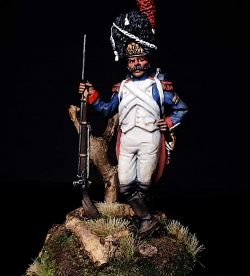 60mm French Imperial Guard Grenadier 1804-15 vignette