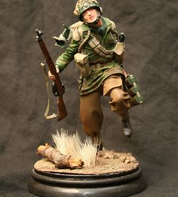 Paratrooper with 2inch mortar.