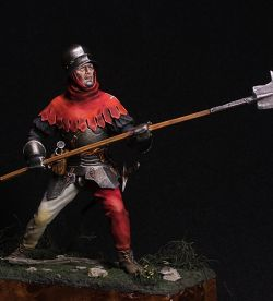A Swiss infantryman in the Burgundian Wars.